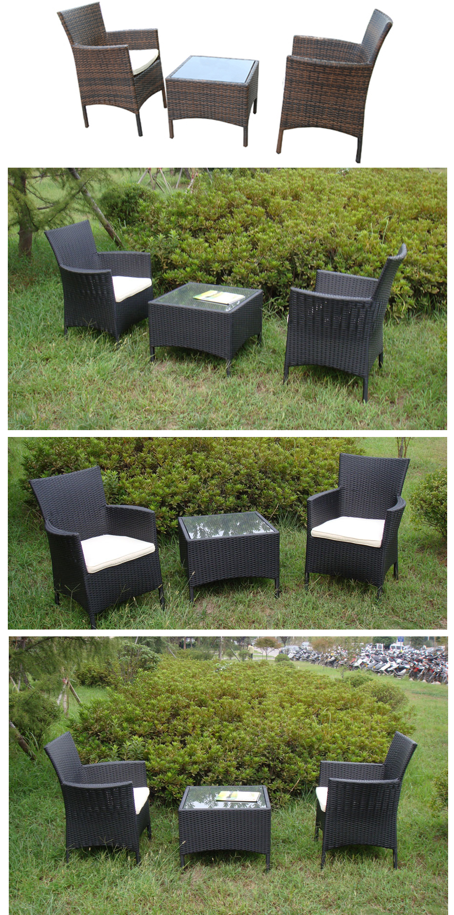 Meble Balkonowe Ogrodowe Składane Stolik 2 Krzesła Zdjęcie Pictures